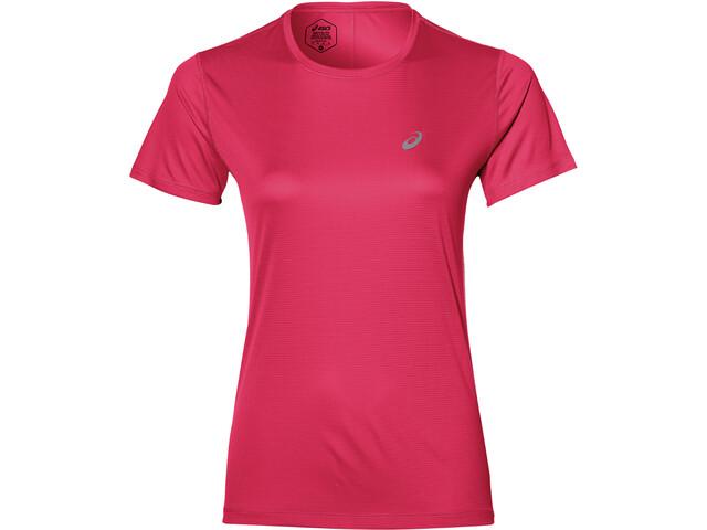 asics Silver Maillot manches courtes zippé Femme, pixel pink
